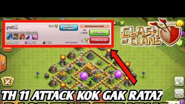 BASE COC TH 5 TERKUAT ANTI BINTANG 3!!! - Clash Of Clans Indonesia