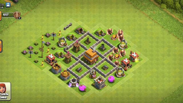 Clash of clans town hall 4