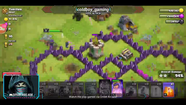 clash of clans (farming and pushing)