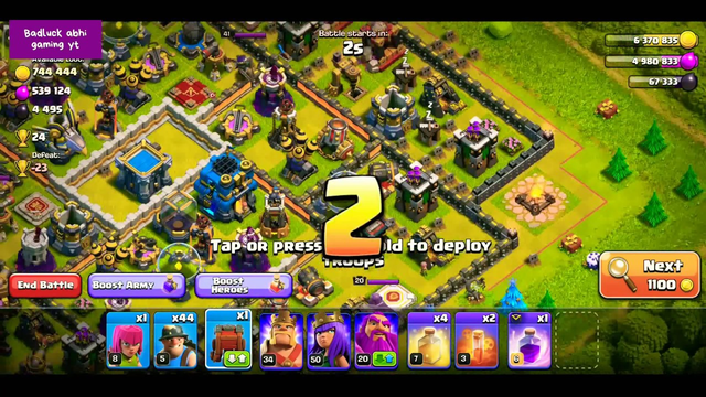 Clash of clan atteck,coc attacker th11 destroyed by miner lvl5