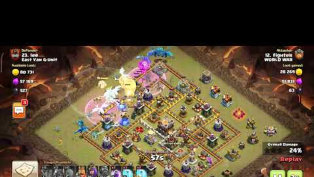 CLAN WAR LEAGUE JULY SESSION IN CLASH OF CLANS    WORLD WAR VS EAST VAN G-UNIT    DAY 1 PART 3