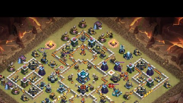 """Most COMMON th 13 war base easy to wipe 3 star """" Clash of Clans"""""""