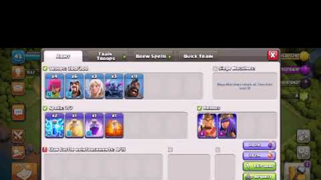 My Townhall 9 first attack in clash of clans