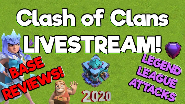 Legend League Attacks - Farming Attacks - Base Reviews - Tips - Clash of Clans Livestream