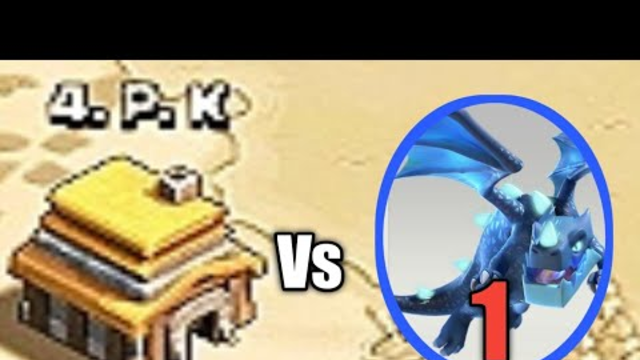 1 ELECTRODRAGON VS TOWNHALL 5 CLASH OF CLAN COC