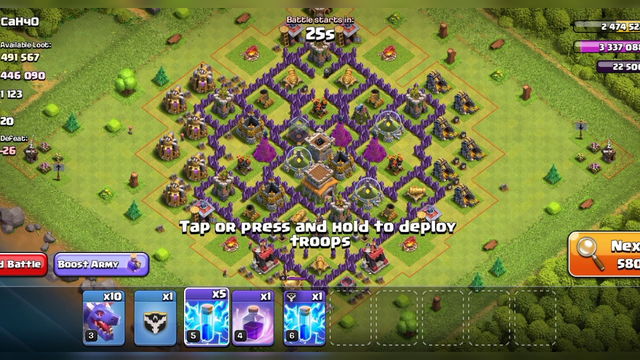 TH 8 attack strategy || clash of clans|| dragon attack strategy||