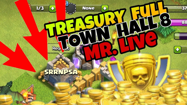 Clash of Clans  -  TREASURY FULL  1900000 - TOWN HALL 8 FEW  HOUR'S  LEFT..
