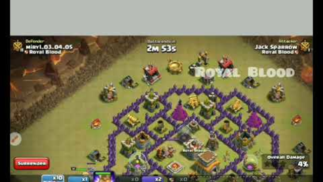 TH8 Full Dragon attack strategy(DragLoon) - COC Clash of Clan