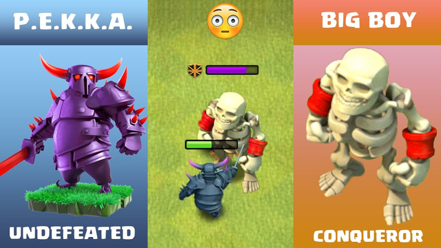 PEKKA vs BIG BOY Clash of Clans | Every Level Pekka vs BIG BOY COC