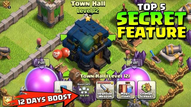 New Update ! Top 5 Hidden Features In Clash Of Clans - Coc