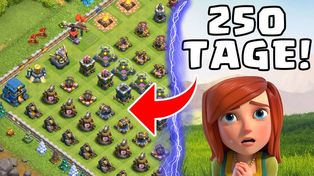 250 TAGE BIS MAXED! * Clash of Clans * CoC