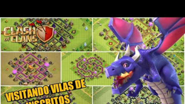 VISITANDO VILAS DE INSCRITOS AO VIVO! CLASH OF CLANS