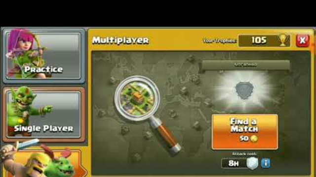 Start of clash of clans (level 2) upgrading the clan
