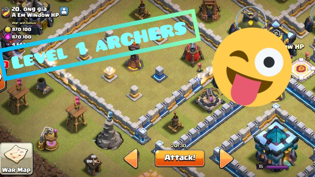 I found A NOOB IN WAR | Every Defence Lvl is | Clash of Clans |