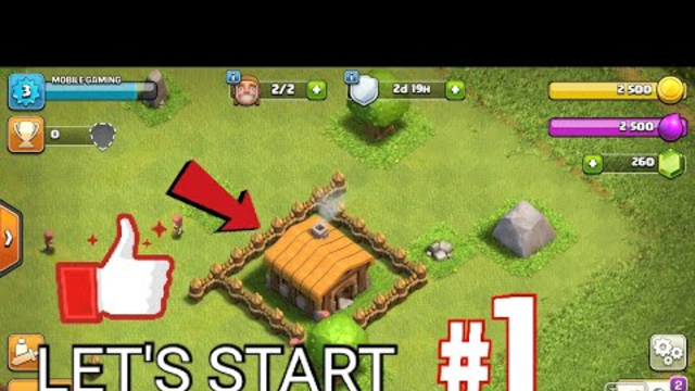 Clash of clans walkthroug part:1 th1 let start from here