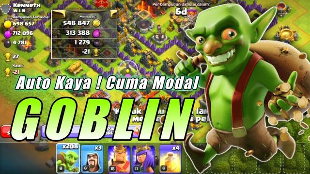 Cuma Modal Goblin Loot Dapet Banyak | Cara Loot COC Dengen Cepat- Clash Of Clans