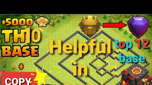 New Best Town Hall 1O War Base With Copy Link 2o2O|Anti 3 Star Base|Clash Of Clans