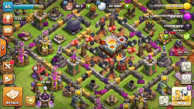 Playing clash of clans with tge warden for the first time