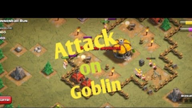 Clash of clans gameplay attack on goblin town Hall 2