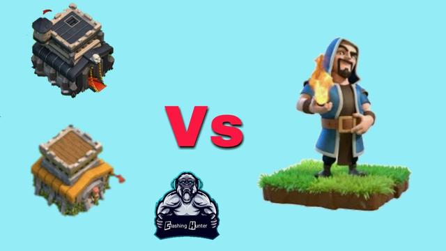 Wizard Vs town hall 8 and 9! Clash of clans video!! Must watch