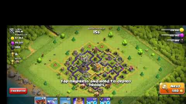 Clash of clans th 8.  attack statergy........