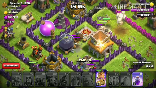 Clash of Clans Th8 attack Strategy.