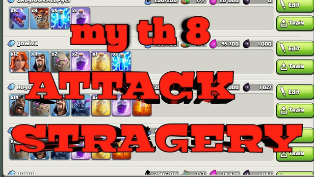 Reaveling my attack STRAGERY of townhall 8....|coc Clash of clans
