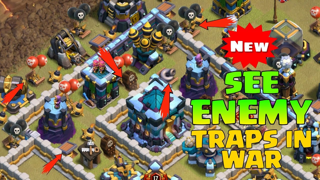 How to See Opponent Base Trap In Clan War League / War CLASH OF CLANS    COC Tip and Tricks