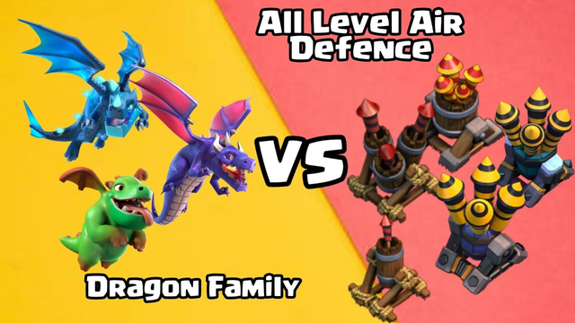 Dragon Family VS Every Level Air Defence | Dragon Competition | Clash of Clans