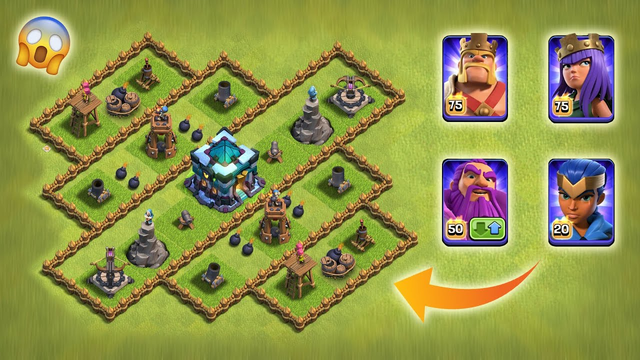 New Level-1 Defence vs New Level Heroes | Clash of Clans | *Satisfying Attack* | NoLimits