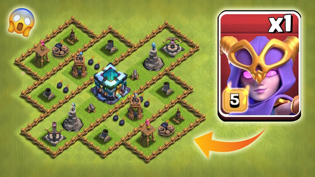 New Level-1 Defence vs Max Super Witch | Clash of Clans | *Epic Attack* | Battle Gaming