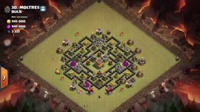 Clash of Clans TH8 Clan War League DragaLoon with Lightning Spell Attack