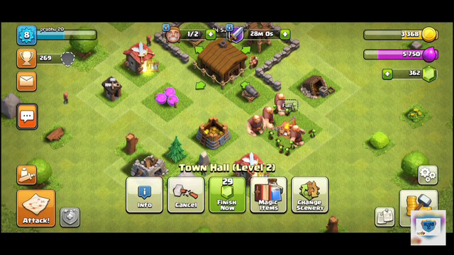 Upgrading town hall 2 to 3 ...... Clash Of Clans