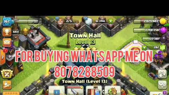 Clash of clans(coc) account for sale TH 13