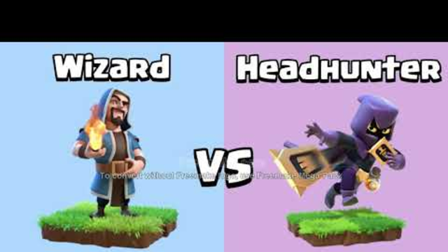 Every Level Wizard and Archer VS Every Level Headhunter   Clash of Clans|watch now