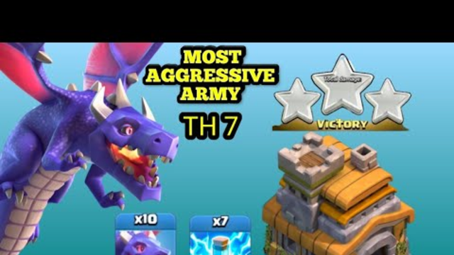 Clash of Clans | BEST TOWNHALL 7 FARMING STRATEGY | DRAGONS