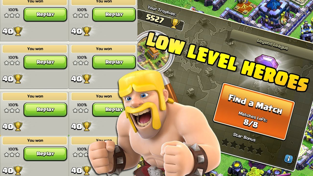 3 Star Any Base With Low Level Heroes - Clash of Clans