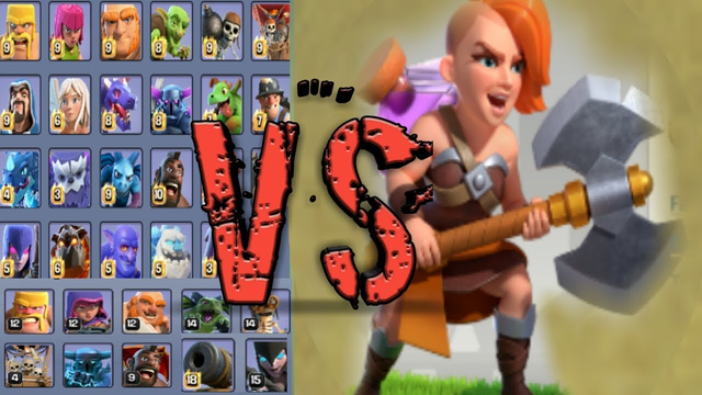 Clash of clans max  super valkire  vs clash of clans all max troops main base and builder base battl