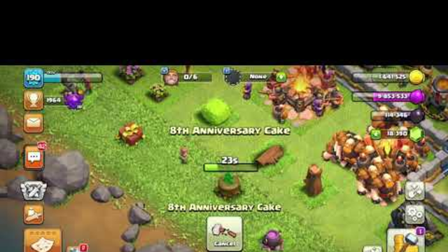 Removing 8th Anniversary Cake - Clash of Clans