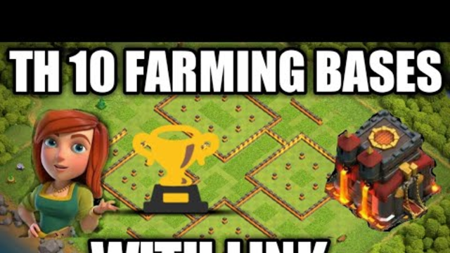 TH 10 || Farming Bases with link || Clash of Clans ||