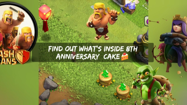 What happens when you remove 8th anniversary cake || clash of clans || watch till end