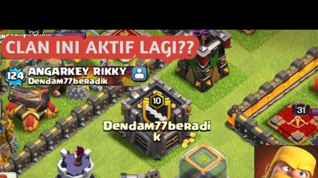 Apa Kabar Clasher Indonesia? Clan Dendam77Beradik Aktif Lagi? -Clash Of Clans