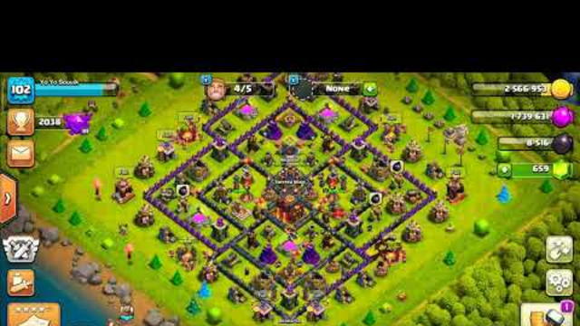 Clash of clans / Town hall 10 base three star / The power of minor / gaming souvik yt :