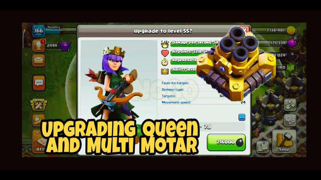 Upgrading Queen to level 55 | Multi Motar to level 8 | Clash of Clans