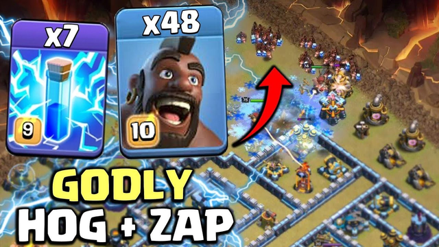 Explained the Destroyer Combo TH13 Lightning Hogs Ice | Ground Town Hall 13 Attack | Clash Of Clans