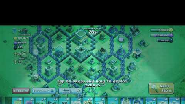 3 Star attack in Clash of clans.