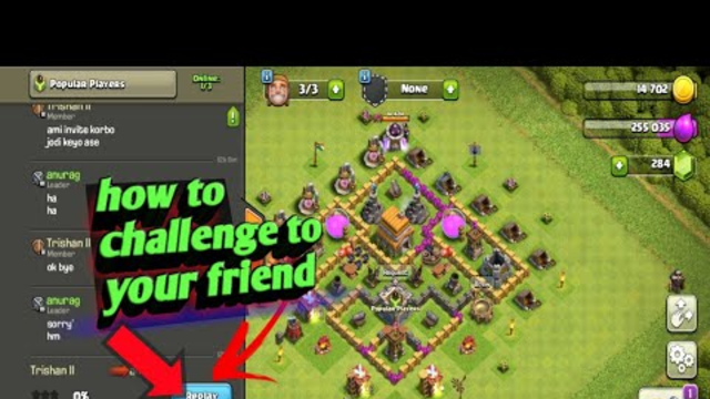 How To Challenge To Your Friend On Coc In Bengali || Bengali Indian Gamer