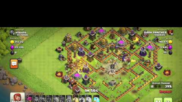 3 STAR TOWNHALL 10 WITHOUT  ARCHER QUEEN //CLASH OF CLANS