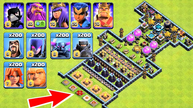 Who Can Survive This Difficult Trap on COC? Trap VS Troops COC HD Video 2020 Clash Of Clans