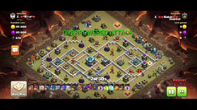 OVER POWERED ATTACK ON TOWNHALL  13 //CLASH OF CLANS
